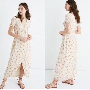 Madewell Silk Field Bouquet Dress
